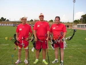 Daniel, Carlos y José Antonio formaron el equipo castellano y leonés