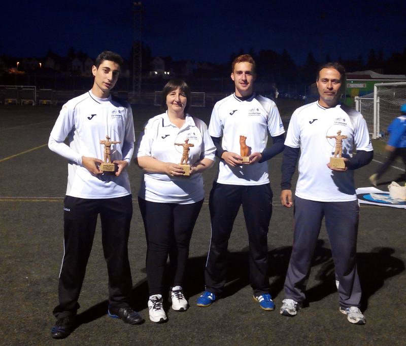 Alvaro, Mati, Javier y Jose Luis con sus trofeos