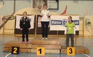 Beatriz en lo alto del podio por segunda vez