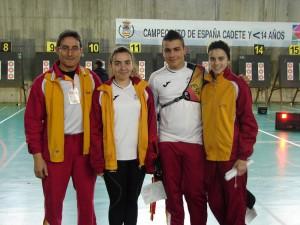 Equipo cadete en el Nacional