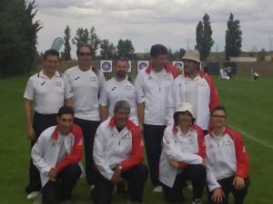 Componentes del equipo zamorano en Valladolid