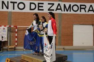 Laura Merayo en el podio de arco recurvo femenino